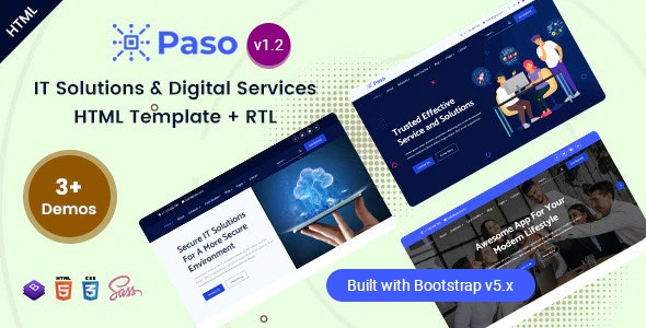 Paso - IT Solutions & Digital Services HTML Template